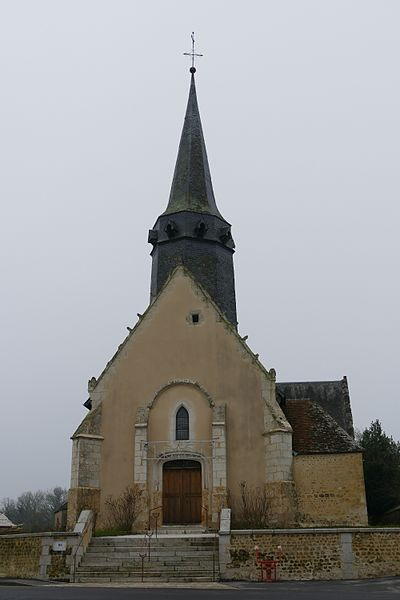 Saint-Peter's church in Coulimer (Orne, Normandie, France).