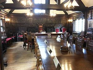 Much Wenlock - Historic council chamber, Guildhall, Much Wenlock