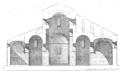 Coupe de l'église abbatiale d'Arles-sur-Tech par Jean-Auguste Brutails.png
