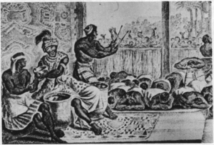 Despotism - The court of N'Gangue M'voumbe Niambi, from the book Description of Africa (1668)