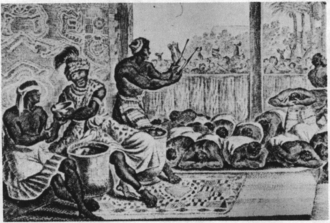 Despotism - The court of N'Gangue M'voumbe Niambi from the book Description of Africa (1668)