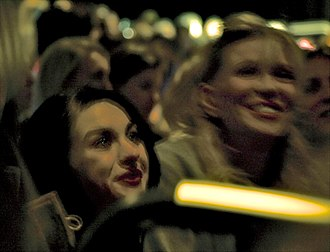 Kurt Cobain: Montage of Heck - Frances Bean Cobain and Courtney Love at the film's Sundance premiere, January 2015