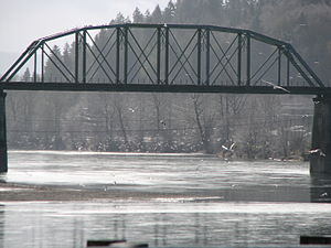Cowlitz River - The Cowlitz River at Kelso, Washington