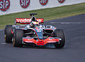Craig Lowndes lockup in Jenson Button's McLaren Mercedes Formula 1 on the Mount Panorama Circuit.jpg