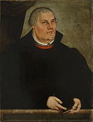 Portrait of Martin Luther.