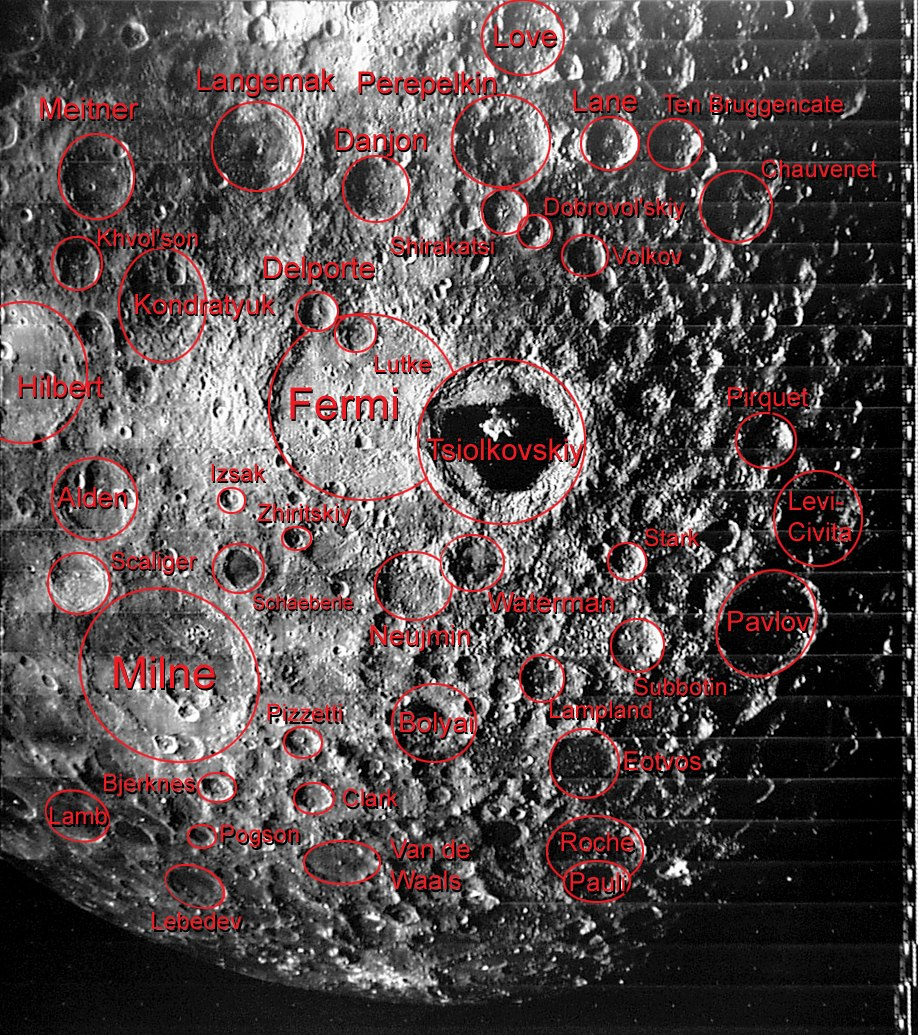 Craters of the Far Side of the Moon