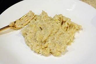Creamed corn - Creamed corn on a plate