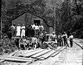 Crew at camp, Brookings Timber and Lumber Company, Brookings, ca 1919 (KINSEY 2155).jpeg