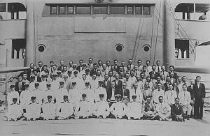 Japanese munition ship Kashino - The crew of Kashino on 10 July 1940