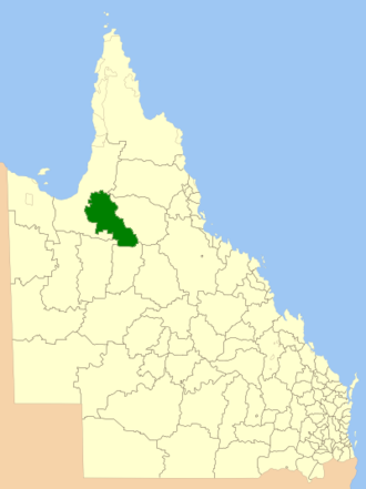 Shire of Croydon - Location within Queensland