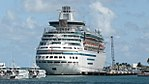Cruise ships, and RBDF vessels, wait out Hurricane Matthew, at NAS Key West (Majesty).jpg