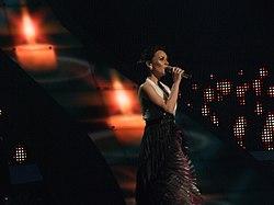 Csézy, Hungary, Eurovision 2008, 2nd semifinal.jpg