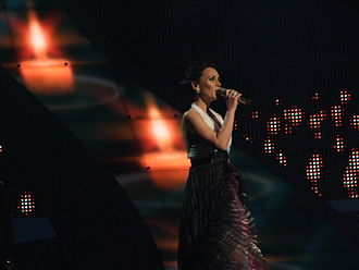 Hungary in the Eurovision Song Contest - Image: Csézy, Hungary, Eurovision 2008, 2nd semifinal