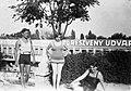 Csoportkép 1934-ben a Csillaghegyi strandfürdőben. Fortepan 18241.jpg