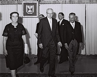Foreign relations of Cuba - Cuban ambassador to Israel with Golda Meir, 1960