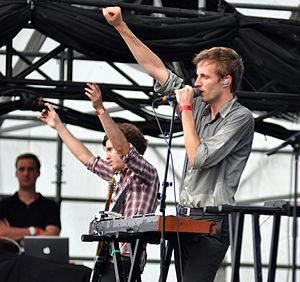 Cut Copy - Cut Copy performing in Williamsburg, Brooklyn, in August 2010