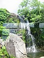 Cwmorthin water falls from FR train.jpg