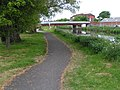Cycle path next to river in Taunton, looking towards town centre - geograph.org.uk - 1306886.jpg