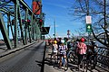 Cyclists waiting on Hawthorne Bridge during a lift.jpg