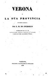 Giovanni Battista Da Persico: Verona e la sua Provincia