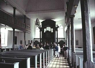 Damsholte Church - The church's sombre interior