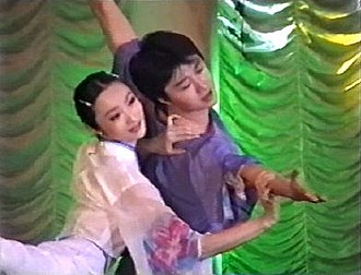 International Delphic Council - The first Delphic Games 2000 in Moscow / Russia. Shan Chong and Wang Lie (China). An award for artistic achievement in contemporary dance