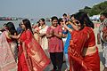 Dancing Devotees - Durga Idol Immersion Ceremony - Baja Kadamtala Ghat - Kolkata 2012-10-24 1350.JPG