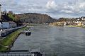 Danube in Linz, from Nibelungenbrücke heading WSW.jpg