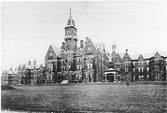 Nathaniel Jeremiah Bradlee - Image: Danvers State Hospital, Danvers, Massachusetts, Kirkbride Complex, circa 1893