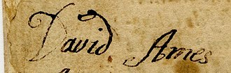 David Ames (colonel) - Image: David Ames signature