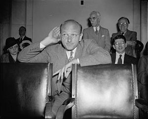 David E. Lilienthal - David E. Lilienthal listens to testimony at a Congressional hearing in 1938 called to investigate charges brought against the TVA by its former chair, Arthur E. Morgan.
