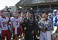 David Petraeus performs coin toss at 2008 Armed Forces Bowl 081231-N-7090S-150.jpg