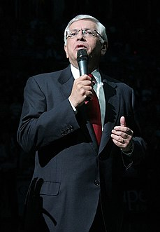 David Stern former commissioner of the National Basketball Association