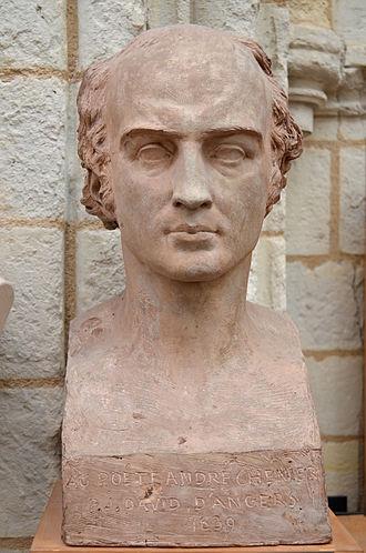 André Chénier - Bust of André Chénier by David d'Angers (1839).
