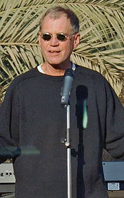 David Letterman entertaining troops in Iraq.