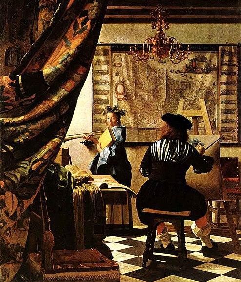 Vermeer van Delft Alegoria malarstwa