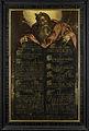 De Tafelen der Wet met de tien geboden in schoonschrift getoond door Mozes Rijksmuseum SK-A-4487.jpeg