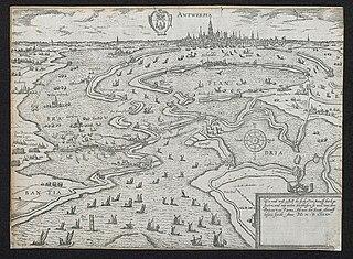 De dijken voor Antwerpen doorstoken, 1585