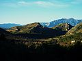 De la Vall de Gallinera a la Vall d'Alcalà, el castell de Cocentaina al fons.JPG