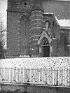 de zuidzijde van de toren, met traptoren en kerkportaal - amerongen - 20008410 - rce