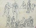 Dehodencq A. - Pencil - Etude de personnages d'après l'antique - 10.1x13.4cm.jpg