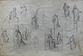 Dehodencq A. - Pencil - Feuille d'étude de personnages - 30x20cm.jpg