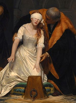 The Execution of Lady Jane Grey - Detail
