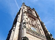 The Tower of Derby Cathedral, Englands third tallest (Anglican) cathedral church tower