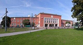 Dessau Hauptbahnhof railway station in Dessau-Roßlau, Germany