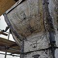 Detail van een schildering op de met lood beklede torenspits, tijdens de restauratie - Edam - 20379420 - RCE.jpg