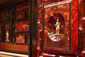 Claviorgan - Detail of the Hauslaib Claviorgan, at the Museu de la Música de Barcelona (MDMB 821)