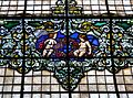 Detall del vitrall de l'escala, casa del vescomte de Valdesoto, València.JPG