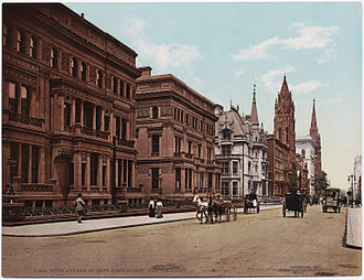 Charles B. Atwood - W. H. Vanderbilt house (foreground) on New York City's Fifth Avenue. It was designed by Herter Brothers and Charles Atwood, architects