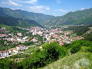 Devin, Bulgaria - Panoramic view over Devin